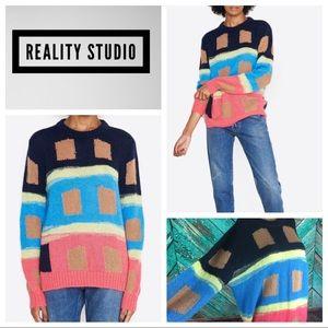 Reality Studio Ikat Mohair Crewneck Sweater